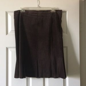 Karen Kane Brown Suede Skirt